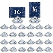 Wedding Table Number Holder Place Card Holder Diamond Crystal Acrylic 24pcs