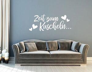 Wandtattoo fürs Schlafzimmer - Zeit zum kuscheln - Wandaufkleber Sticker pkm332