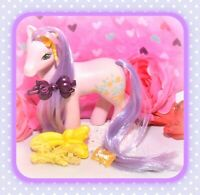 ❤️My Little Pony G1 Vtg Sweetheart Sister Spring Song Lace BOW Earring BRUSH❤️