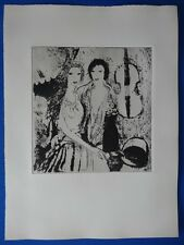 """Marie LAURENCIN : """"Jeunes filles au violoncelle"""" EAU-FORTE ORIGINALE # 1923"""
