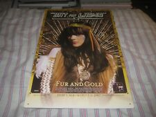 BAT FOR LASHES-FUR AND GOLD-1 POSTER-11X17 INCHES-NMINT-EXCELLENT-RARE!!!!!