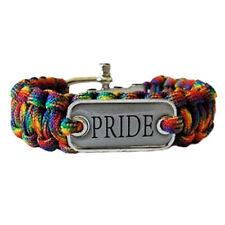 Pride Shack- Braided Rainbow Pride Plate Paracord Bracelet - Lesbian Gay Pride