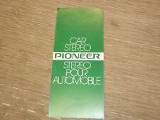 Vintage Pioneer Original  car stereo sales brochure Catalog