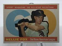 1960 Topps Nellie Fox HOF #555 Chicago White Sox Vintage Baseball Card All-Star