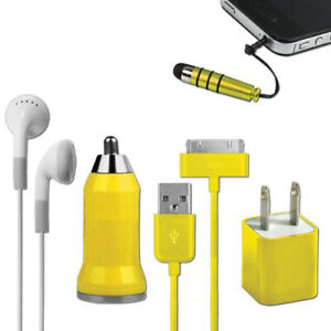 iCover 5-in-1 Travel Kit for iPhone 4/4S and 4th Generation iPods - Yellow