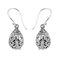 Designer DRAGONFLY DROP Earrings in SOLID 925 Sterling Silver  #N86