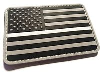 PVC Rubber Thin White line US Flag Patch, EMS, EMT, PARAMEDIC, Rescue, Medic