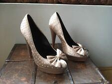 Kurt Geiger Gold Very High Jewelled Shoes Size UK 7 EUR 40 - VGC