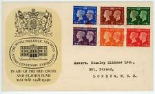 More details for gb 1940 stamp centenary rps stanley gibbons illustrated fdc cat £50