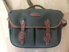 Billingham England Hadley Pro Sage Canvas Tan Leather Shoulder Bag and Pad