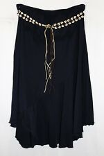 L.LINDA Brand Navy Blue Beaded Tie Belt Midi Skirt Size XL BNWT #TU67