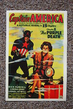 Captain America Lobby Card Movie Poster The Purple Death