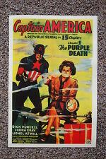 Captain America Lobby Card Movie Poster The Purple Death