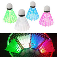 HD_ 4Pcs Creative LED Light Badminton Balls Plastic Outdoor Sports Shuttlecocks*