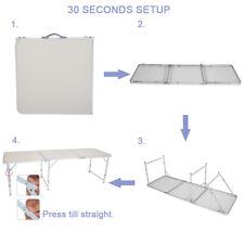 180 x 60 x 70cm Portable Multipurpose Folding Table Home Aluminum Alloy White