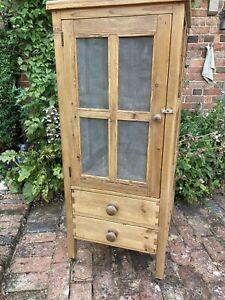 Antique Pine Large Meat Safe/ Cupboard.