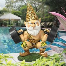 Atlas The Athletic Weightlifting Design Toscano Hand Painted Gnome Statue