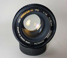 Minolta MC Rokkor-X PG 50mm f1.4 Lens bent filter thread ring