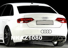 AUDI rings Vinyl Decal sticker Sport Racing car emblem SILVER