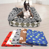 Fluffy Fleece Dog Blanket Soft and Warm Pet Throw Mat Cushion Pad for Cats Dogs