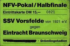 Ticket NFV-Pokal Semi Final 95/96 SSV Vorsfelde - Eintracht Braunschweig