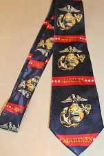 The United States Marine Corps On A Brand New Navy Blue Polyester Neck Tie! #6