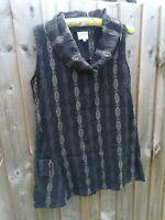 The Masai Clothing Company Grey Sleeveless Geometric Tunic Dress sz XS A5