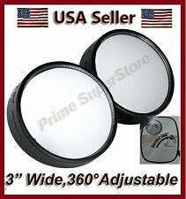 "3"" SIDE AUXILIARY BLIND SPOT REAR VIEW MIRROR SMALL SWIVEL 4 RV VAN PICKUP TRUCK"