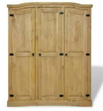 Closet Sideboard Mexican Corona Style Pinewood  3 Doors Living Room Crafted Wood
