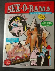 SEX-O-RAMA MAGAZINE #1, WALLY WOOD EXPLICIT 7 PAGE B&W PORTFOLIO SECTION, 1989