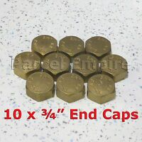 "Brass 3/4"" STOP END CAP Hex Nut BSP Blanking Dishwasher Washing Machine Radiator"