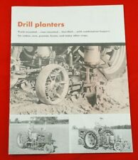 Mccormick Drill Planters Brochure Ih Farmall Mounted Fast Hitch Cub 100 200 300