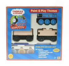 THOMAS & Friends Wooden Railway Paint & Play Thomas - 99186- New