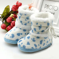 6ee965ae9a334 Baby Girls Boys Soft Booties Snow Boots Infant Toddler Newborn Crib Shoes 0 -12M