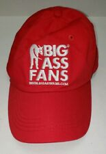 Big Ass Fans Red One Size Fitted Baseball Cap Hat Donkey Logo Advertising Funny