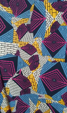LuLaRoe Classic NWT M Periwinkle Blue with Bright Pink and Yellow abstract print