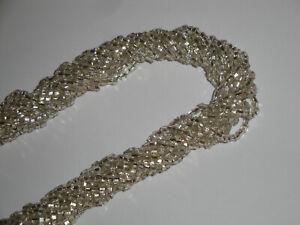 collana torchon vintage in vetro di MURANO argento