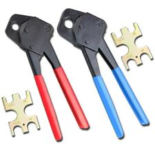 12 Amp 34 Pex Crimpers Set Plumbing Crimping Tools Copper Ring Gonogo Gauge