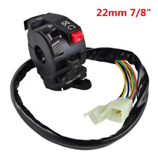 22mm Universal Motorcycle Handlebar Start Stop Headlight Hi/Low Throttle Switch