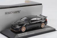 BMW M4 GTS 2016 Saphirschwarz metallic  Felgen orange 1:43 Minichamps