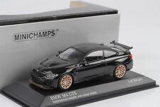 BMW M4 GTS 2016 Negro Zafiro Metálico LLANTAS NARANJA 1:43 MINICHAMPS