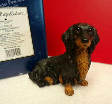 Border Fine Arts Longhair Dachshund Dogs and Pups Galore Dog Figurine