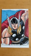 2016 Marvel Masterpieces Thor Sketch By Rich Molinelli Nm/Mint