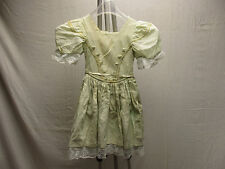 Little Girl's Ivory & Gold Lining Elegant Dress Doll Dressy Short Sleeve Zip Up