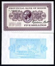 Isle of Sodor, 5 shillings, Limited Private issue, Specimen, UNC - KGV, Train