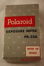Vintage Polaroid PR-23A Exposure Meter EV Scale In Original Box General Electric
