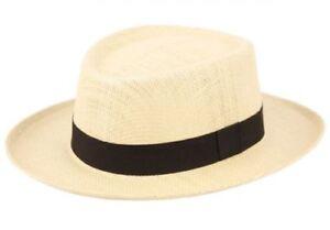 Epoch Caribbean Gambler Sweatband Cuban Beach Straw Panama SPF 50 Mens Hat F2272