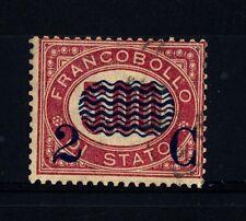 """ITALIA - Regno - 1878 - Francobolli di servizio del 1875 sovr. """"2 C"""""""