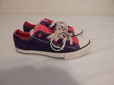 Girls Tennis Casual Shoes Size 3 CONVERSE All Star Pink Blue White