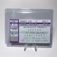Weezer Sanctuary Concert Ticket Stub Las Vegas Nevada Vintage July 19 2000